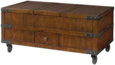 Hammary Furniture Hidden Treasures Lift Top Trunk Coffee Table Homemakers Furniture