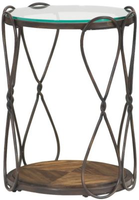 Hammary Furniture Hidden Treasures Round Hourglass End Table