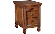 Hammary Furniture Hidden Treasures Oak Storage Chairside Table