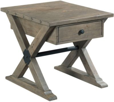 Hammary Furniture Reclamation End Table with Drawer