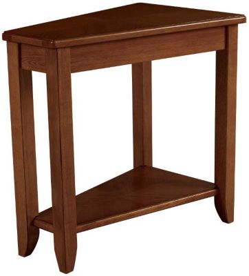 Hammary Furniture Oak Wedge Chairside Table