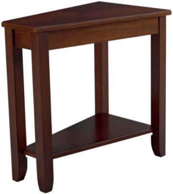 Hammary Furniture Cherry Wedge Chairside Table