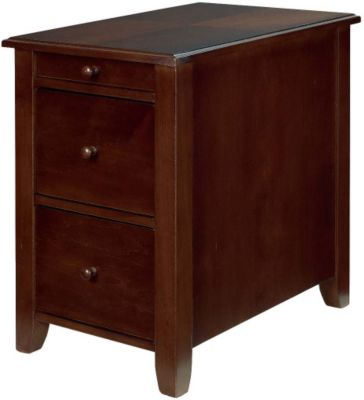 Hammary Furniture Cherry Storage Chairside Table