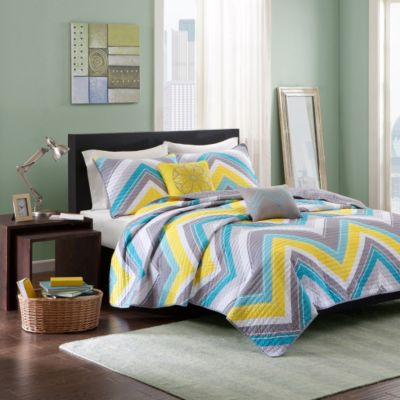 Hampton Hill Elise 4-Piece Twin Coverlet Set