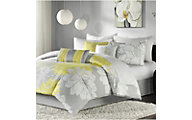 Hampton Hill Lola Yellow 7-Piece King Comforter Set