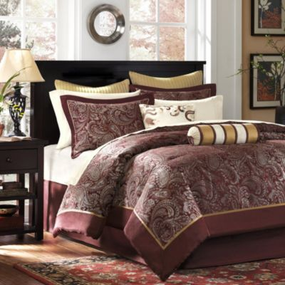 Hampton Hill Aubrey Red 12-Piece Full/Queen Comforter Set