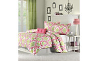 Hampton Hill Katelyn Coral 4-Piece Full/Queen Comforter Set