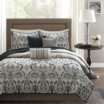 Hampton Hill Geneva 6-Piece Queen Quilted Coverlet Set