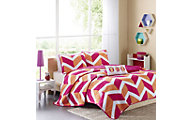 Hampton Hill Billie Pink 4-Piece Full Coverlet Set