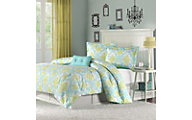 Hampton Hill Katelyn Teal 3-Piece Twin Comforter Set