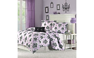 Hampton Hill Katelyn Purple 3-Piece Twin Comforter Set