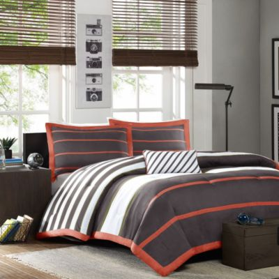 Hampton Hill Ashton Grey 3 Piece Twin Comforter Set