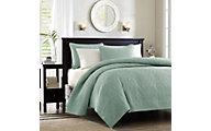 Hampton Hill Quebec Seafoam 3-Piece Full/Queen Coverlet Set