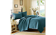 Hampton Hill Velvet Touch Peacock 3-Piece Queen Coverlet Set