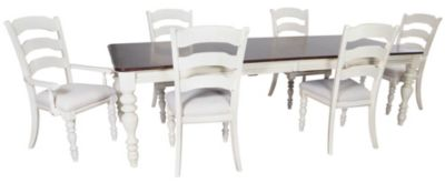 Hillsdale Furniture Pine Island Table, 4 Side & 2 Arm Chairs