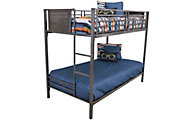 Hillsdale Furniture Urban Quarters Twin/Twin Metal Bunk Bed