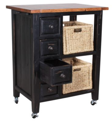 Hillsdale Furniture Tuscan Retreat Kitchen Cart With Baskets Homemakers Furniture