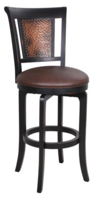 Hillsdale Furniture Cecily Swivel Copper Bar Stool