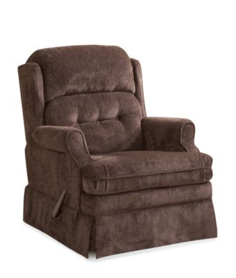 Homestretch Virginia Brown Reclining Swivel Glider
