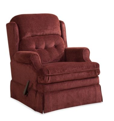 Homestretch Virginia Red Reclining Swivel Glider