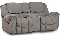 Homestretch Baxter Power Reclining Loveseat with Console