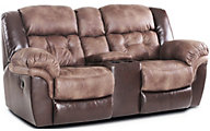 Homestretch Fenway Reclining Loveseat with Console