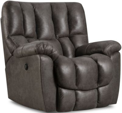 Homestretch 133 Collection Charcoal Power Rocker Recliner