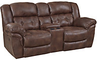 Homestretch Padres Power Reclining Loveseat with Console
