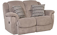 Homestretch Newman Gray Rocker Reclining Loveseat
