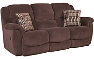 Homestretch Newman Chocolate Reclining Sofa