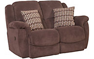 Homestretch Newman Chocolate Rocker Reclining Loveseat