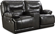 Homestretch Marshall Reclining Loveseat with Console