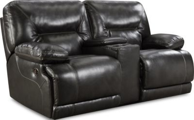 Homestretch Marshall Power Reclining Loveseat with Console