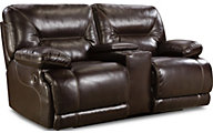Homestretch Marshall Brown Power Reclining Loveseat with Conso