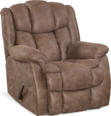 Homestretch Renegade Tan Rocker Recliner