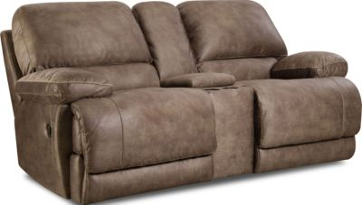 Homestretch Mclaine Reclining Loveseat with Console