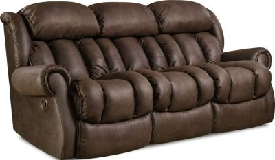 Homestretch Diversery Brown Reclining Sofa