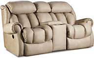 Homestretch Diversery Cream Rocking Reclining Loveseat