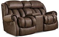 Homestretch Diversery Brown Rocking Reclining Loveseat