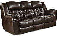 Cheyenne Espresso Leather Power Reclining Sofa