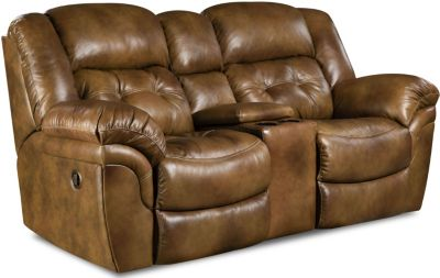 Homestretch Cheyenne Leather Reclining Loveseat