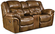 Homestretch Cheyenne Leather Power Reclining Loveseat