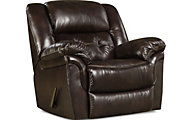 Cheyenne Espresso Leather Rocker Recliner