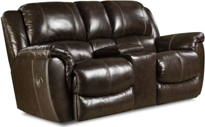 Princeton Leather Power Rocking Reclining Loveseat