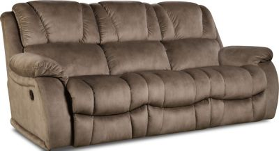 Homestretch Brahma Tan Reclining Sofa