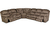 Homestretch Brahma Tan 3-Piece Reclining Sectional