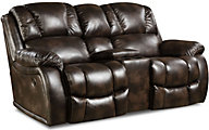 Homestretch Brahma Power Loveseat with Console