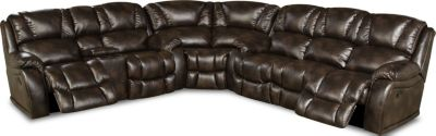 Homestretch Brahma Brown 3-Piece Power Reclining Sectional
