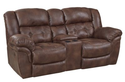 Homestretch 129 Collection Reclining Loveseat with Console