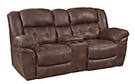 Homestretch Padre Reclining Loveseat with Console